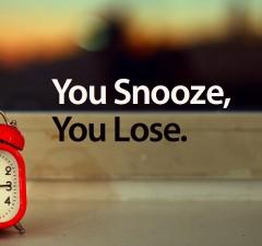 Snooze-se-lever-tôt