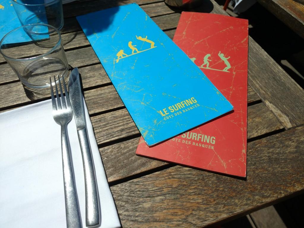 Le Surfing Biarritz Dejeuner au Soleil
