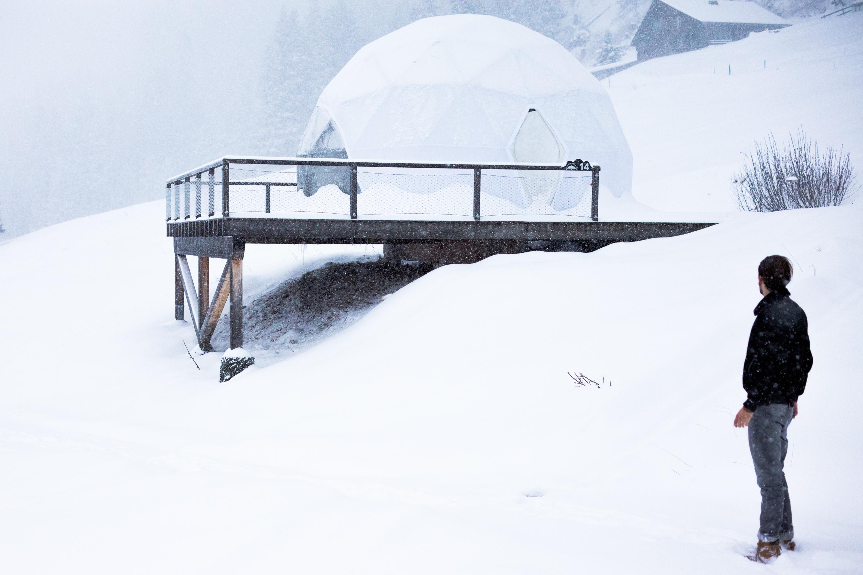 Whitepod hotel Switzerland 2