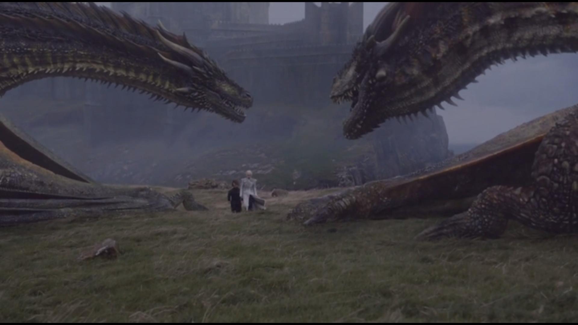 les dragons partent vers le Mur