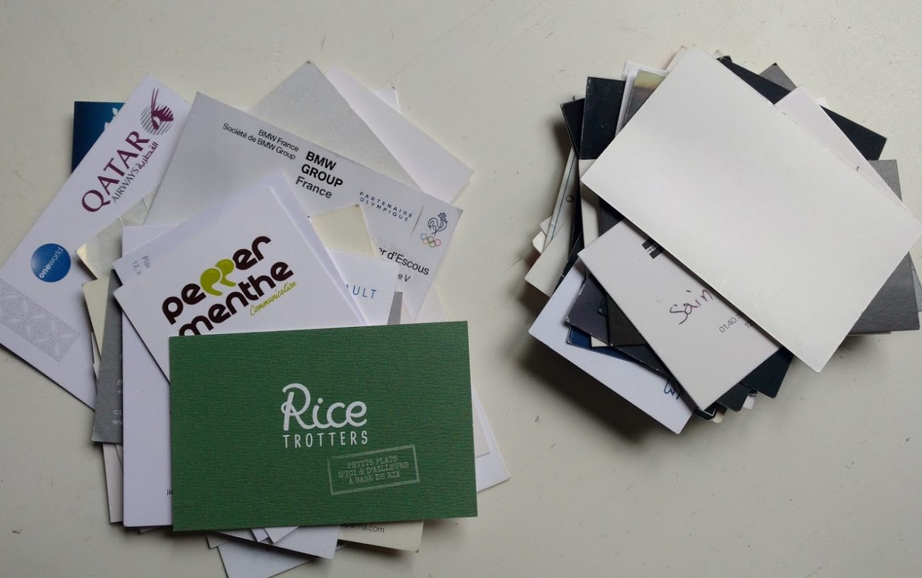 Une Question de Business Cards…