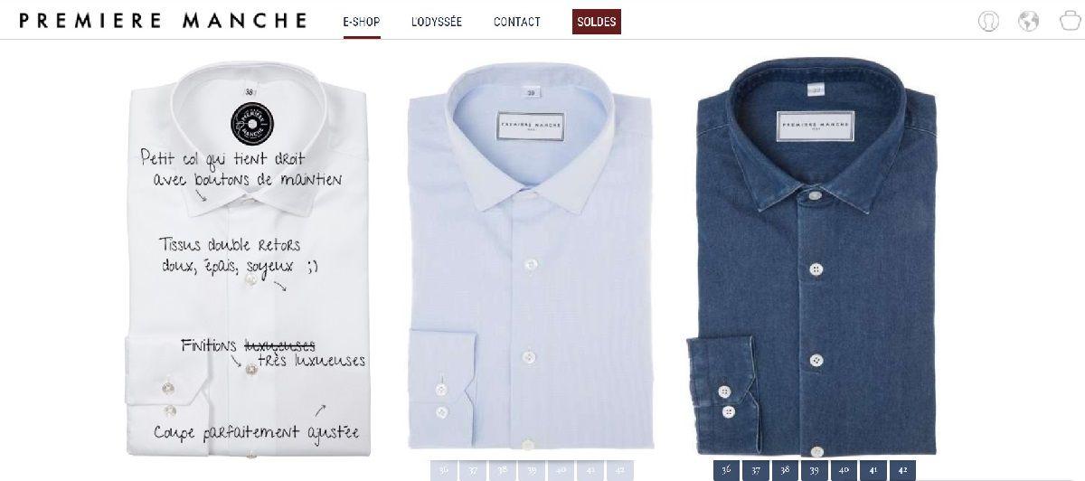 A la Découverte des Chemises Première Manche