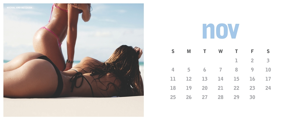 Calendrier Miss Reef 2012