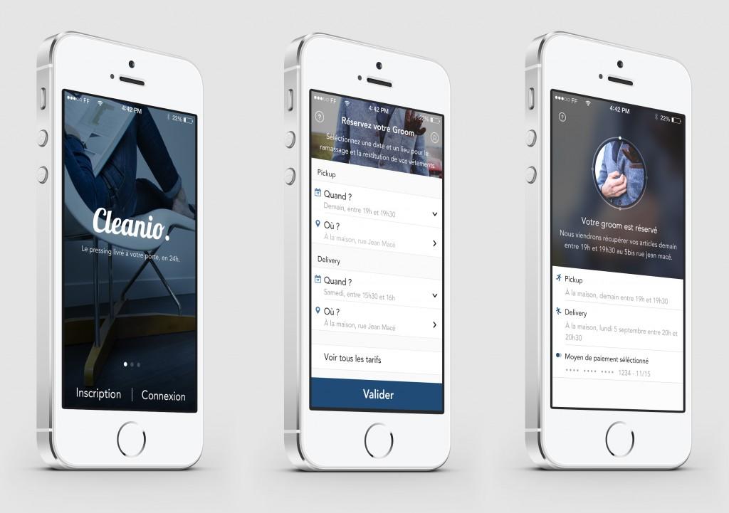 Cleanio App - 3 screens
