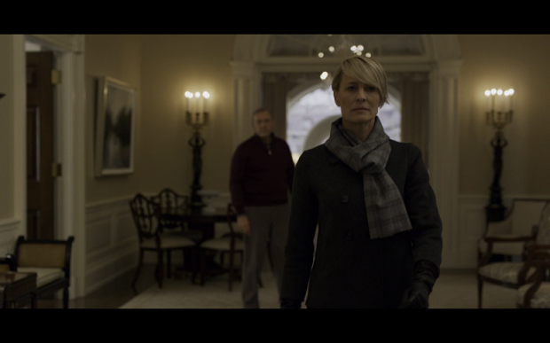CLaire underwood walking away