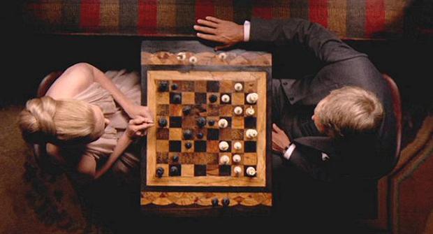Chess scene fire Thomas Crown