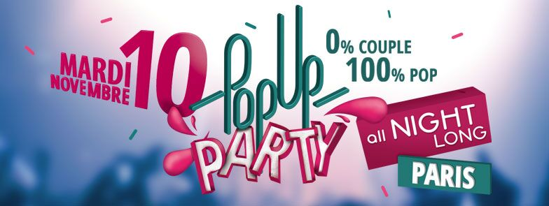 Meetic Vous Invite à Sa Pop-Up Party 0% Couple !
