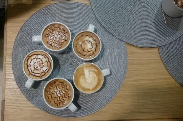 café latte art Habitat