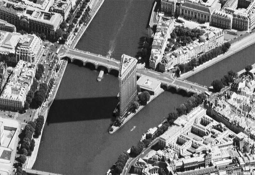 FlatIron Building in Paris with Haussmanhattan