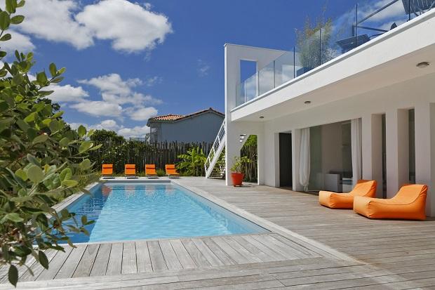 Villa St Barth piscine Andernos les bains