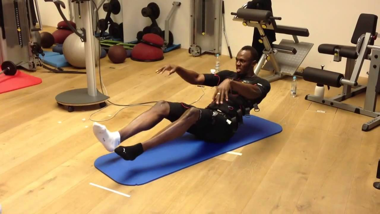 Electro stimulation Usain Bolt