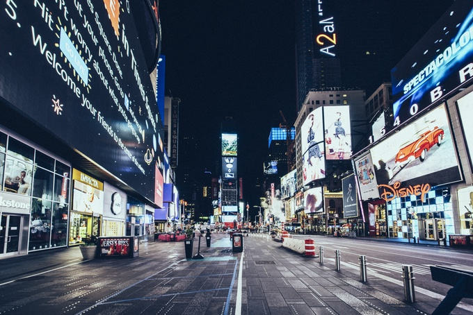 empty Times Square