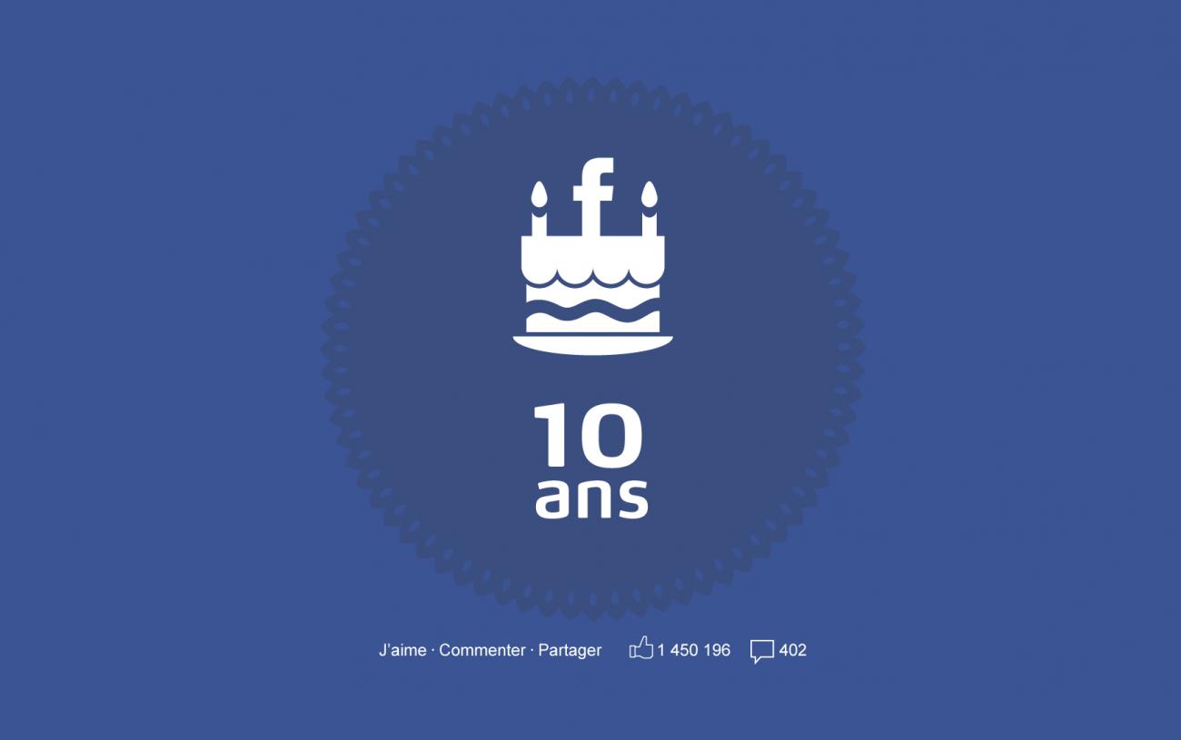 Joyeux Faceversaire ! 10 Ans sur Facebook !