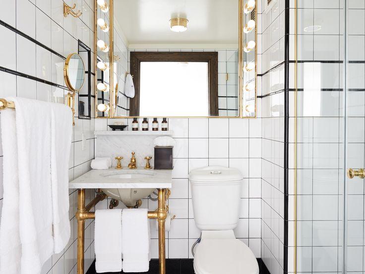 La salle de bain du Ludlow Hotel