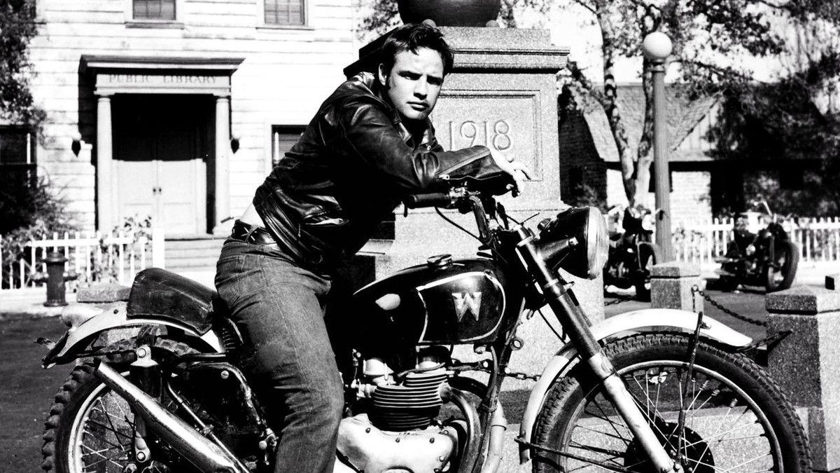 homme tendance cuir Marlon Brando