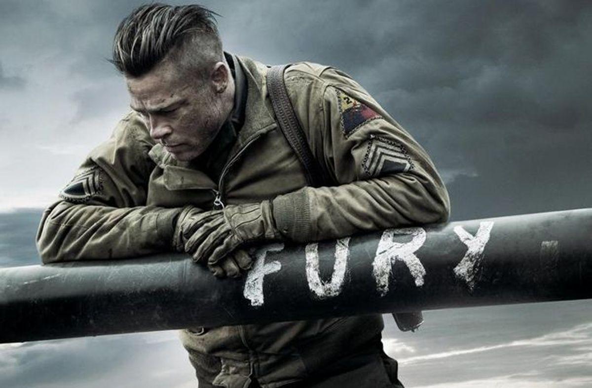 brad pitt dans Fury