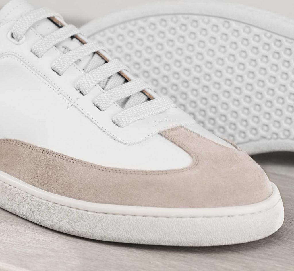 baskets blanches en cuir In corio