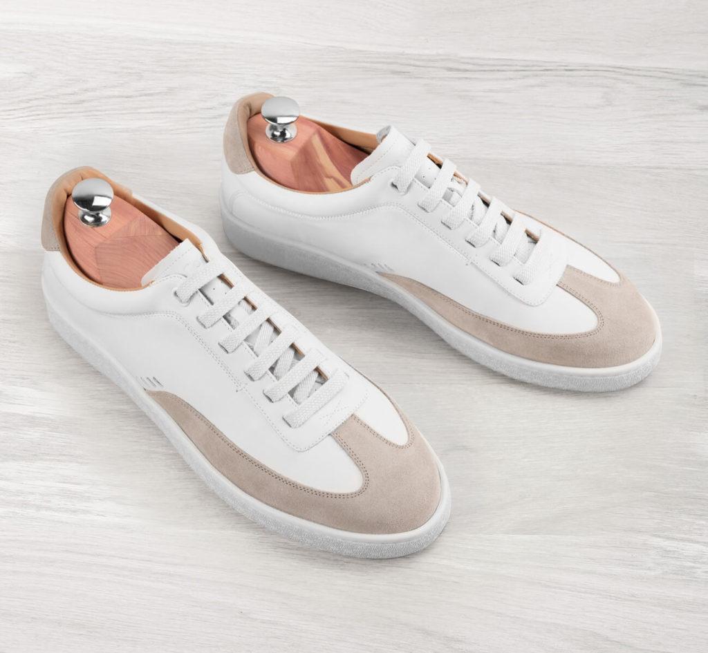baskets blanches en cuir