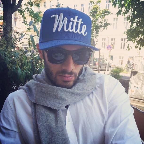 casquette bleue Berlin